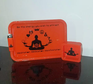 Meditate medicate manifest tray 3 pc set