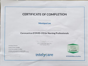 Coronavirus (COVID19) for Nursing Professionals Certificate of Completion