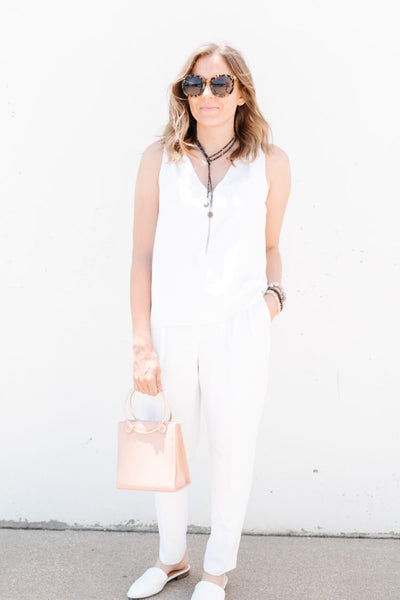 HOW TO STYLE A JUMPSUIT FOR A COCKTAIL PARTY