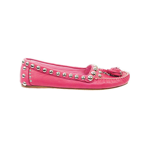 Prada | Pink Studded Loafers
