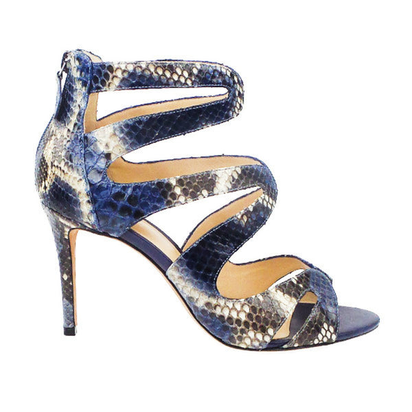 Alexandre Birman | Blue Snakeskin Sandals