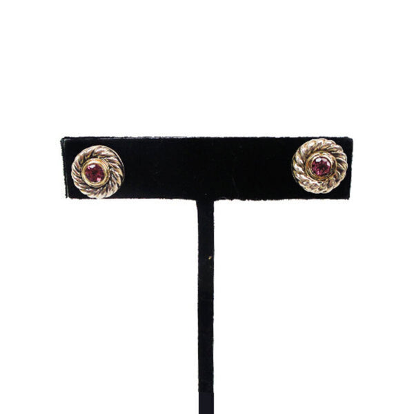 David Yurman | Garnet Cookie Studs
