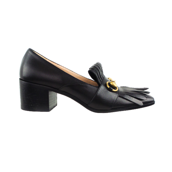 Gucci | Black Horsebit Fringe Pumps