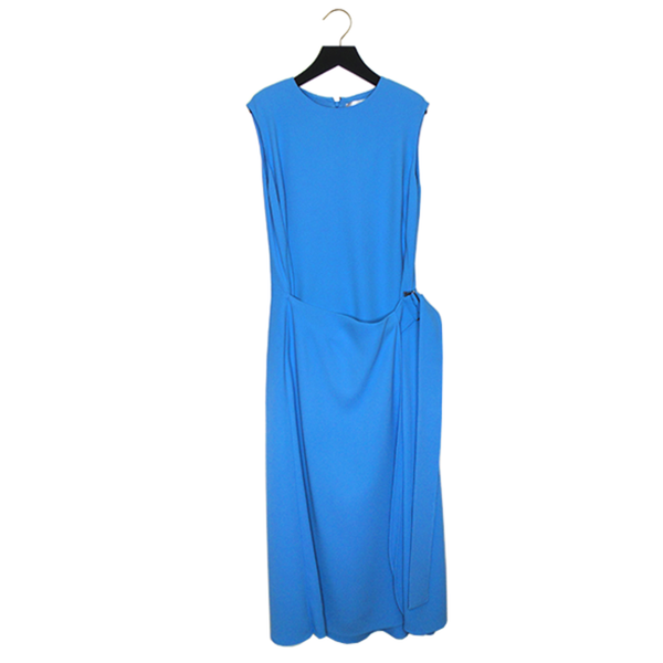 Victoria Beckham | Blue Belted Midi Dress