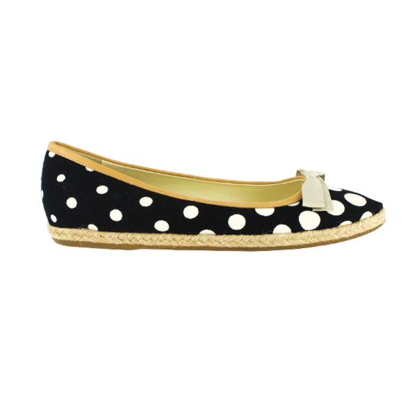 Miu Miu | Polka Dot Canvas Bow Flats