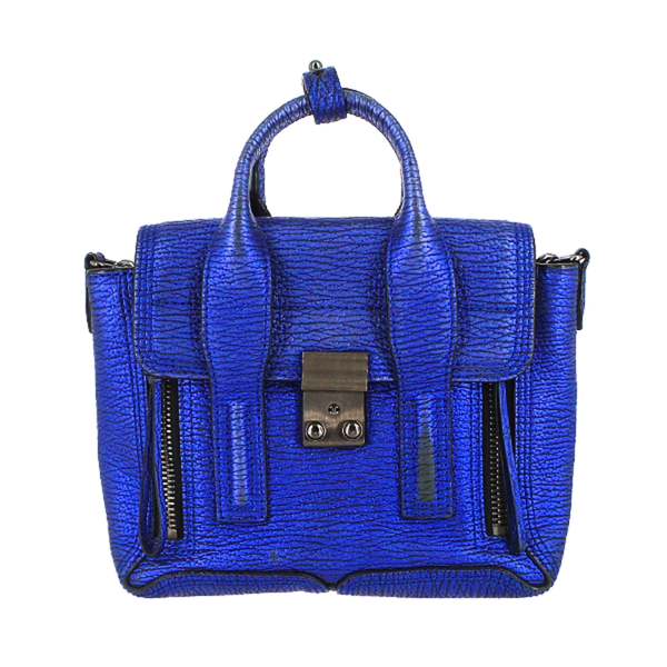 Phillip Lim | Metallic Blue Mini Pashli Satchel