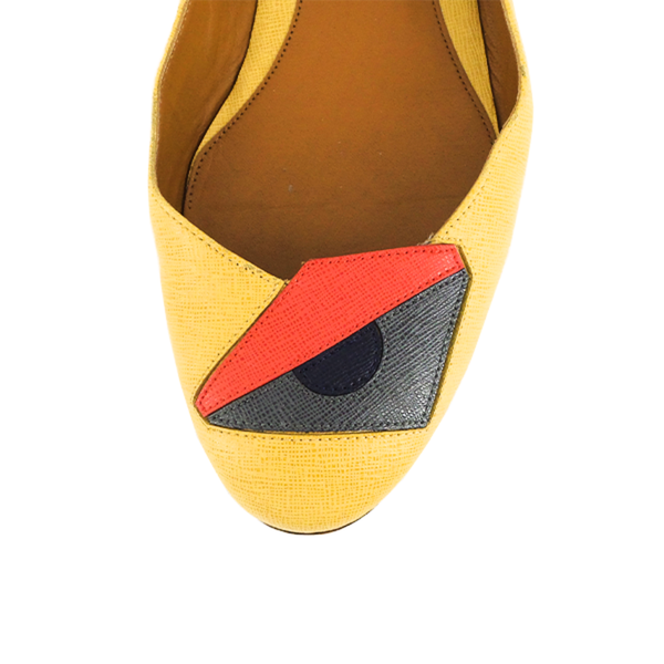 Fendi | Mustard Textured Monster Flats