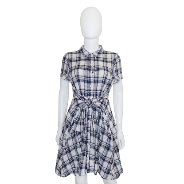 11.1 TYLHO | Plaid Tie Waist Dress