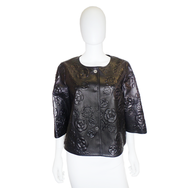 Chanel | Camellia Leather Jacket