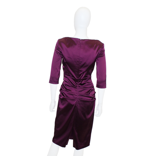 Talbot Runhof | Berry Ruched Dress