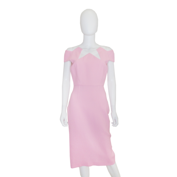Roland Mouret | Light Pink Cutout Crepe Dress