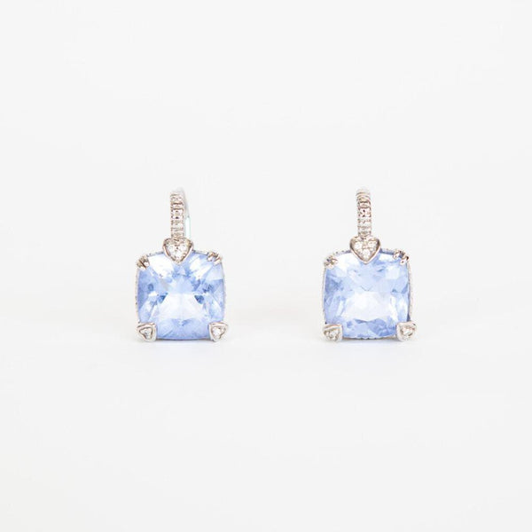 Judith Ripka | Blue Topaz & Diamond Lola Earrings