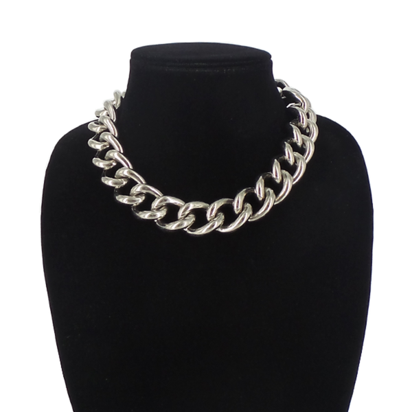 Alexander McQueen | Silver Curb Chain Necklace
