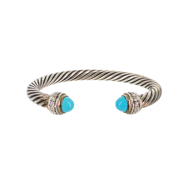 David Yurman | Turquoise & Diamond Cable Classics Bracelet