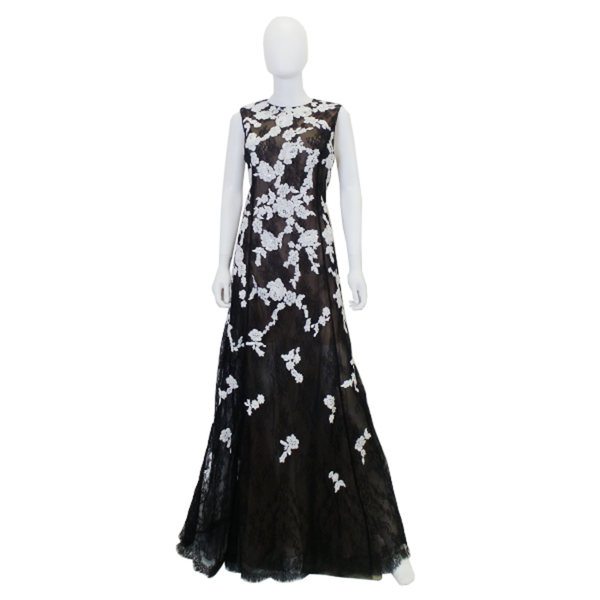 Oscar de la Renta | Embellished Floral Lace Dress