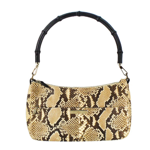 Gucci | Python Bamboo Handle Bag