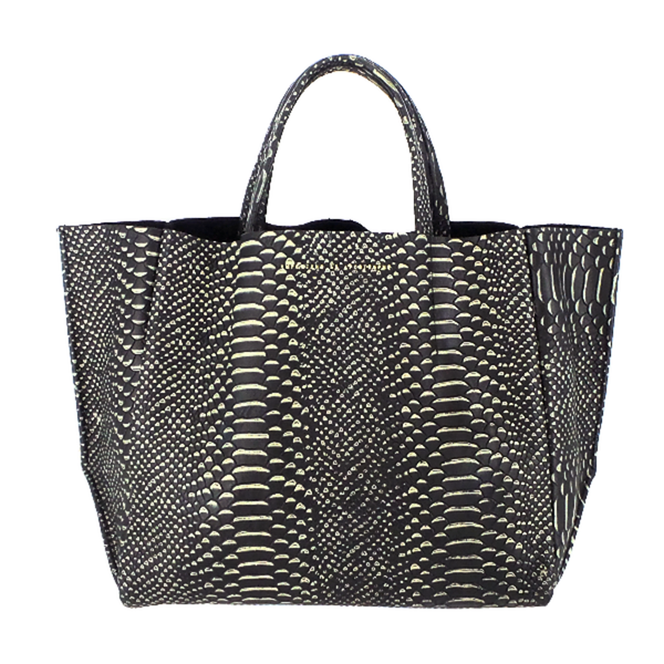 Ampersand As Apostrophe | Embossed Sideways Tote