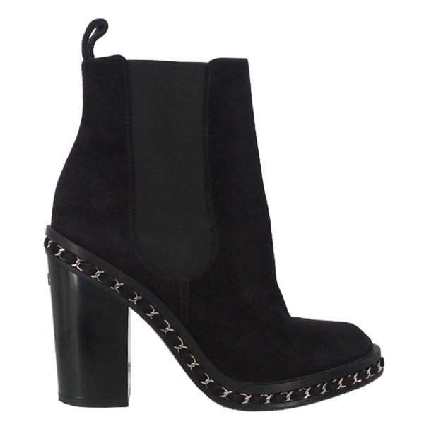 Chanel | Black Suede Chelsea Boots