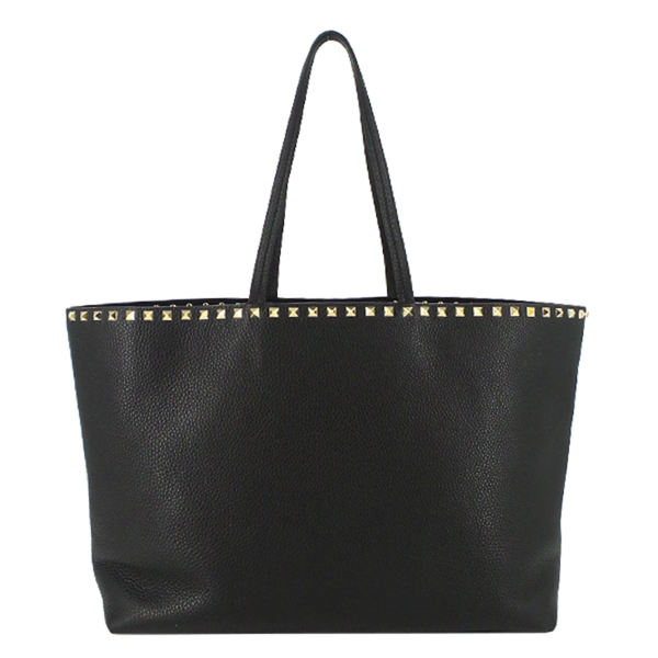 Valentino | Black Rockstud Leather Tote