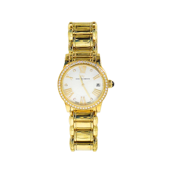 David Yurman | Classic 34mm Gold Diamond Watch