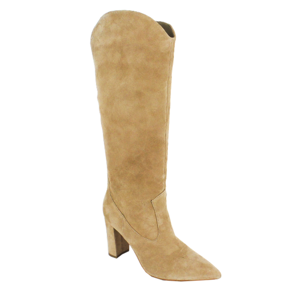 Marc Fisher | Beige Suede Boots