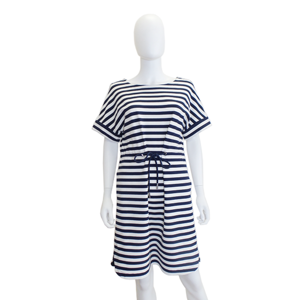 Lafayette | Striped Short Sleeve Dress