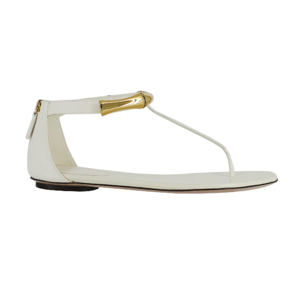 Gucci | White Bamboo Sandals