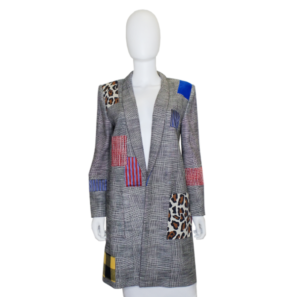 Alice + Olivia | Kylie Patchwork Coat
