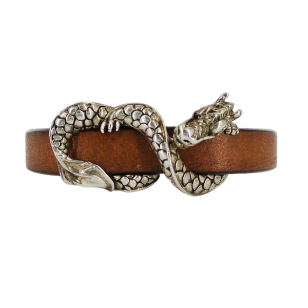 John Hardy | Naga Leather Bracelet