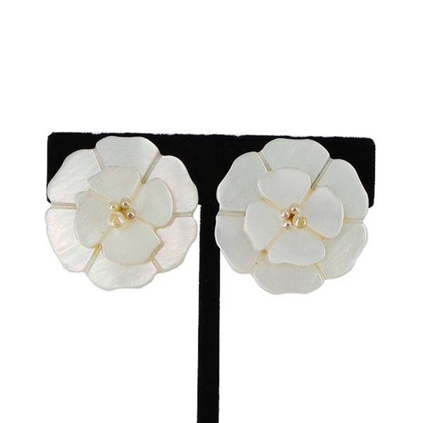 CHANEL | Camellia Clip-On Earrings