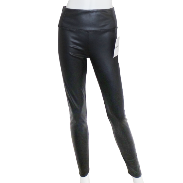 7 For All Mankind | Black Faux Leather Leggings