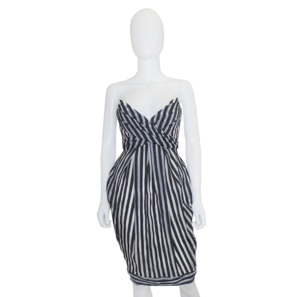 Zimmermann | Striped Strapless Dress