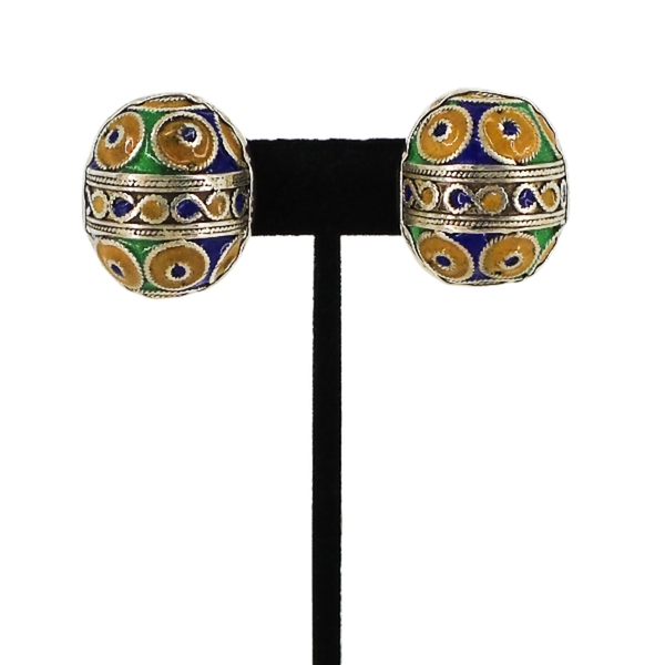 Rebecca Collins | Enamel Clip Earrings