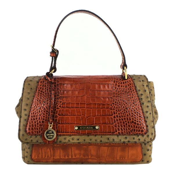 Escada | Embossed Leather Handle Bag