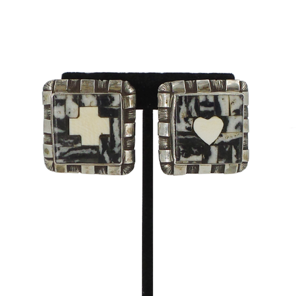 Dian Malouf | Square Stone Clip Earrings