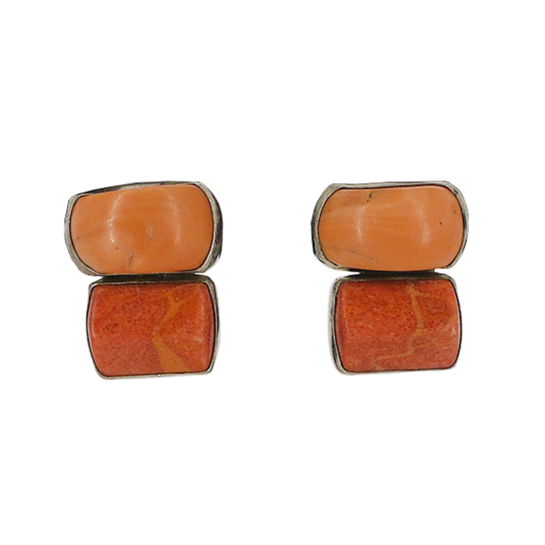 Rebecca Collins | Coral Clip Earrings