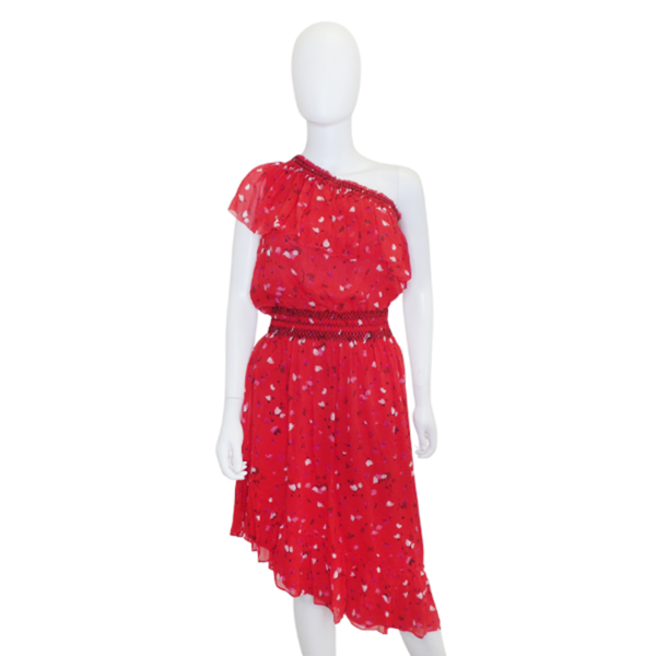 Joie | Hafsa Red Floral Print Dress