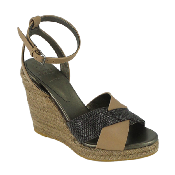 Brunello Cucinelli | Monili Leather Wedges