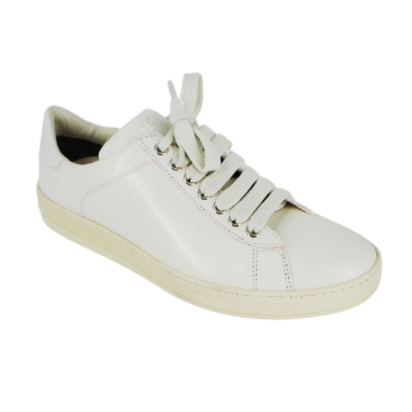 Tom Ford | White Russel Low-Top Leather Sneakers