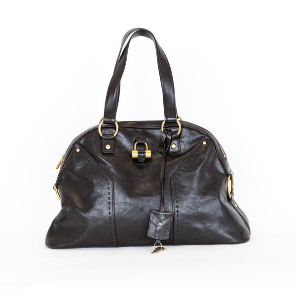 YSL | Brown Leather Muse Handbag