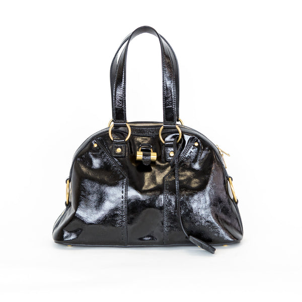 YSL | Black Patent Muse Handbag