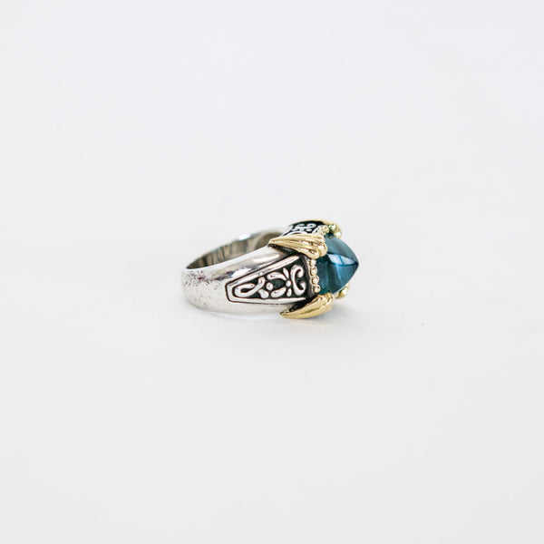 John Hardy | Topaz Engraved Cocktail Ring
