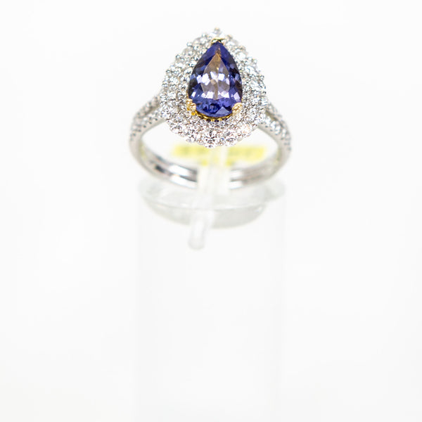 Teardrop Tanzanite Ring