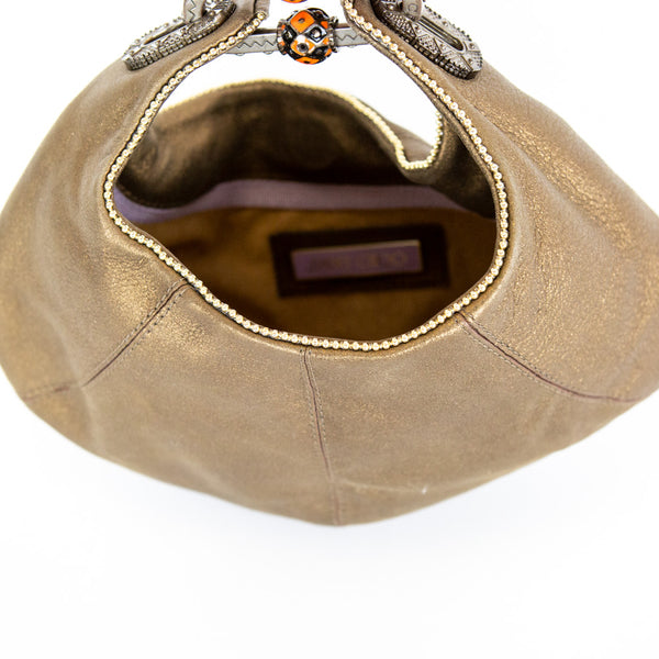 Jimmy Choo | Metallic Bronze Mini Hobo