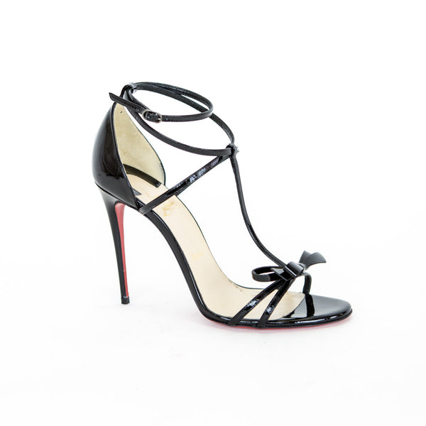 Christian Louboutin | Blackissima Patent Leather Sandals