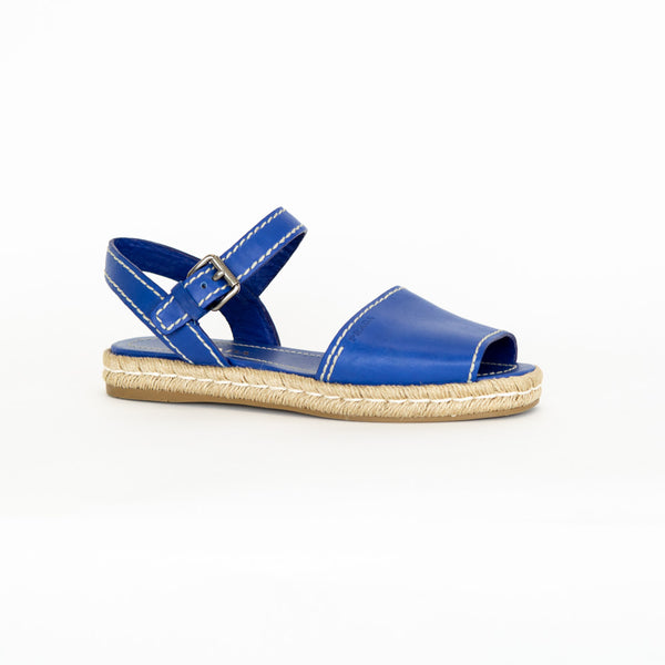 Prada | Blue Leather Sandals