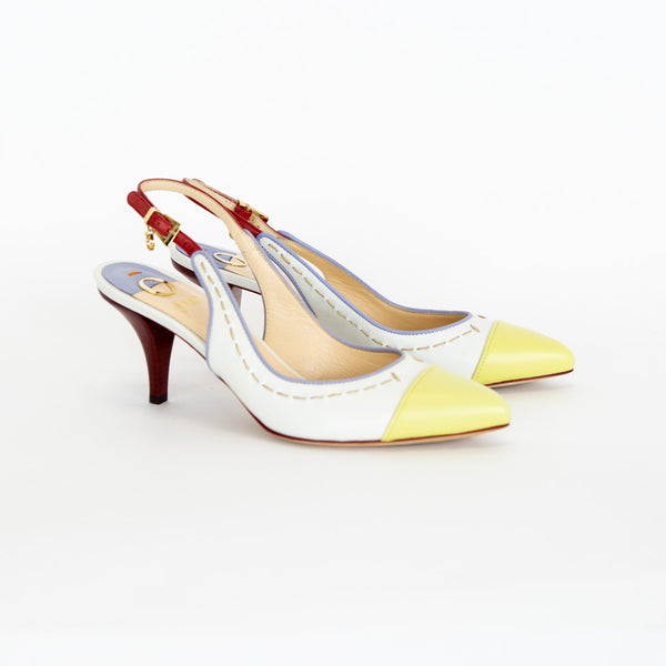 O Jour | Multi-Color Slingback Pumps
