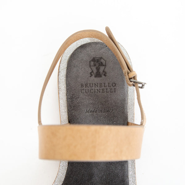 Brunello Cucinelli | Beige Leather Sandals