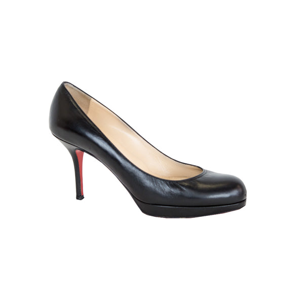 Christian Louboutin | Black Mid Heel Pumps