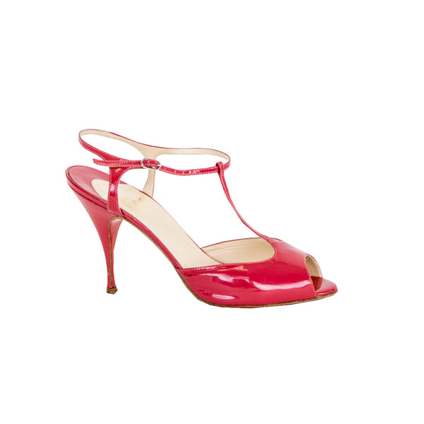 Christian Louboutin | Raspberry Patent Leather Heels